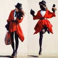 Mặc đẹp với đỏ và đen