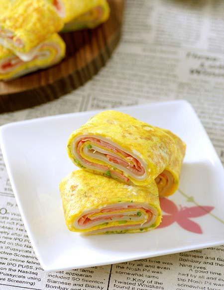 Dai dai... bánh trứng cuộn 3 lớp - 4