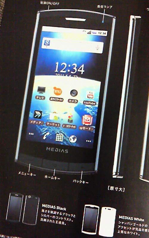 MEDIAS N-04C điện thoại mỏng nhất thế giới - 3