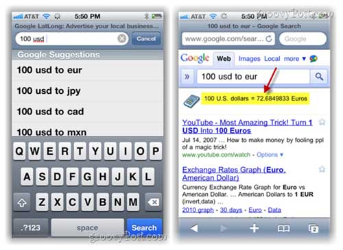 Cách chuyển đổi tỉ giá ngoại tệ với Google - 2