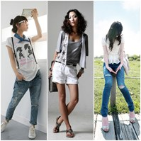 Cách phối đồ năng động với quần jeans
