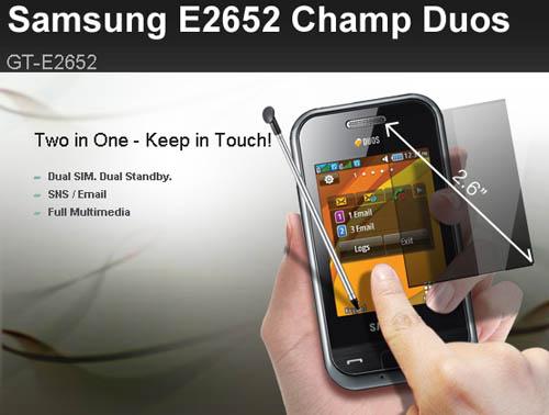 Samsung tung dế cảm ứng 2 SIM, 2 sóng - 1