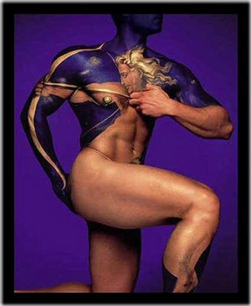 Biến hóa body painting cùng mẫu nude - 1