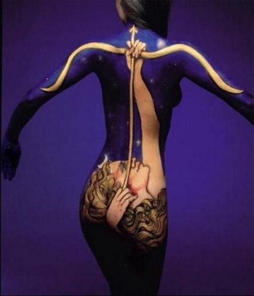 Biến hóa body painting cùng mẫu nude - 3