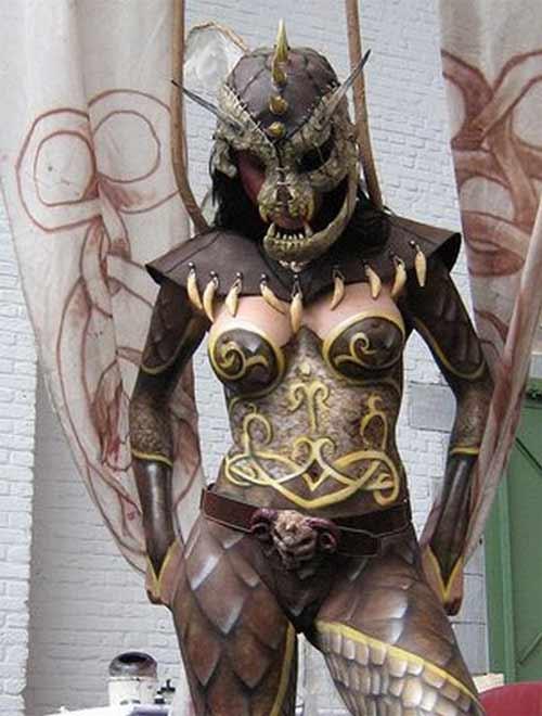 Biến hóa body painting cùng mẫu nude - 5