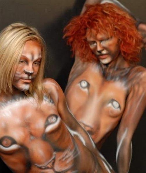Biến hóa body painting cùng mẫu nude - 10
