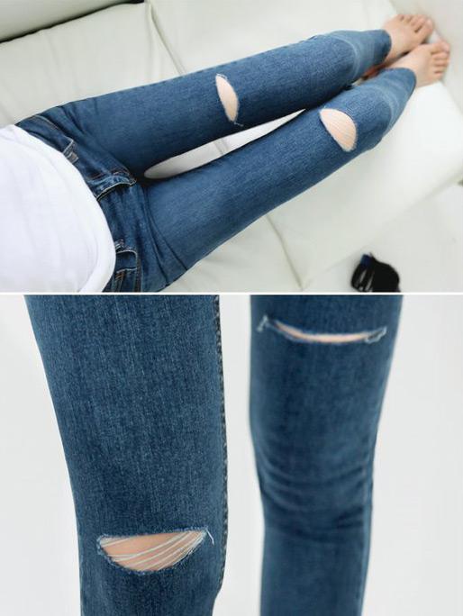 Mẹo mặc quần jeans rách tới công sở - 19