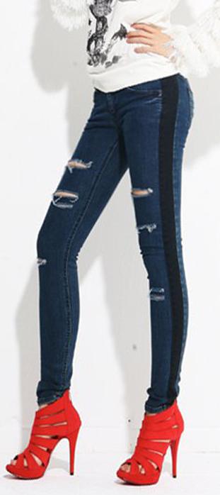Mẹo mặc quần jeans rách tới công sở - 22