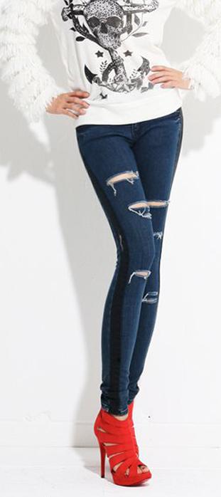 Mẹo mặc quần jeans rách tới công sở - 23