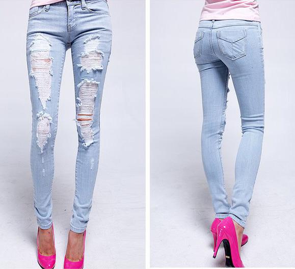 Mẹo mặc quần jeans rách tới công sở - 16