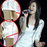 Thái Y Lâm lại gây ầm ĩ vì lộ quần chíp
