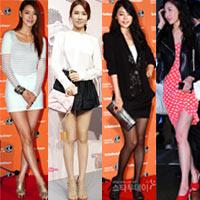 """Ngắm váy ngắn để """"soi"""" chân nuột của Sao Hàn"""