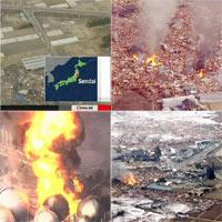 Chùm ảnh động đất sóng thần ở Nhật Bản