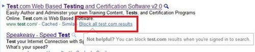 Google cho phép người dùng khóa website tìm kiếm - 1