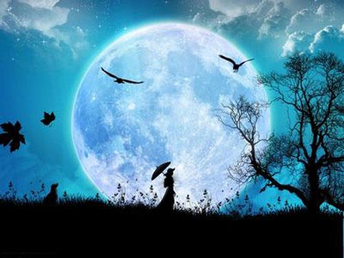 Hình nền chủ đề ánh trăng