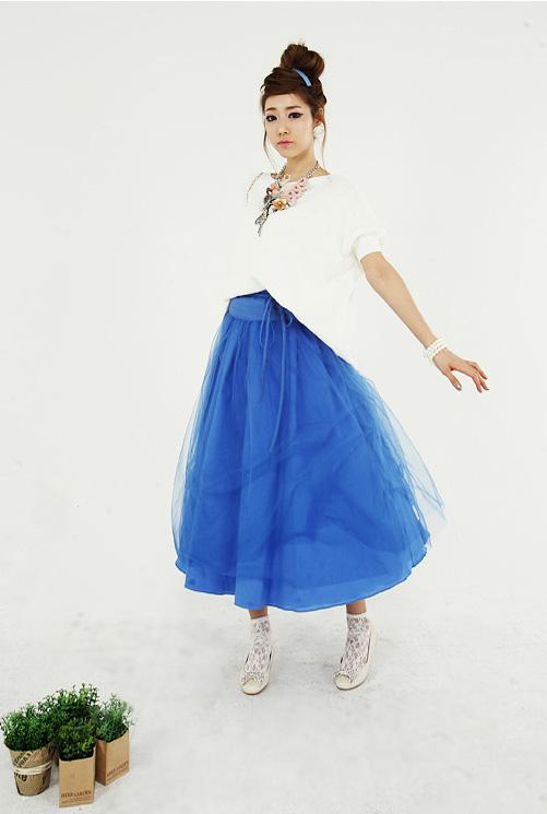 'Mix' áo cho chân váy dài duyên dáng - 2