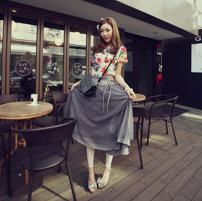 'Mix' áo cho chân váy dài duyên dáng - 10