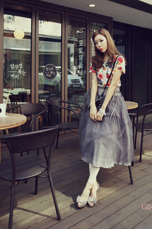 'Mix' áo cho chân váy dài duyên dáng - 9