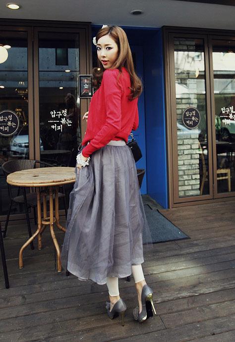 'Mix' áo cho chân váy dài duyên dáng - 12