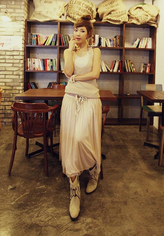 'Mix' áo cho chân váy dài duyên dáng - 13
