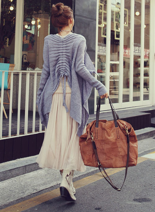 'Mix' áo cho chân váy dài duyên dáng - 16