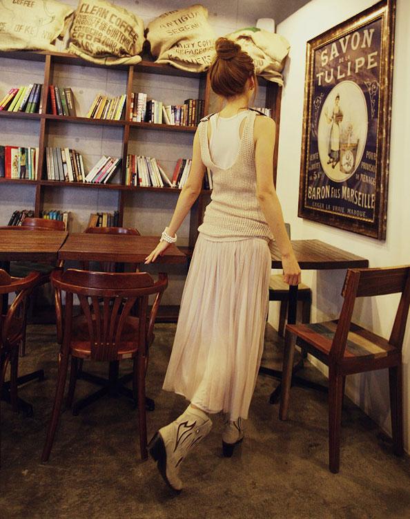 'Mix' áo cho chân váy dài duyên dáng - 14