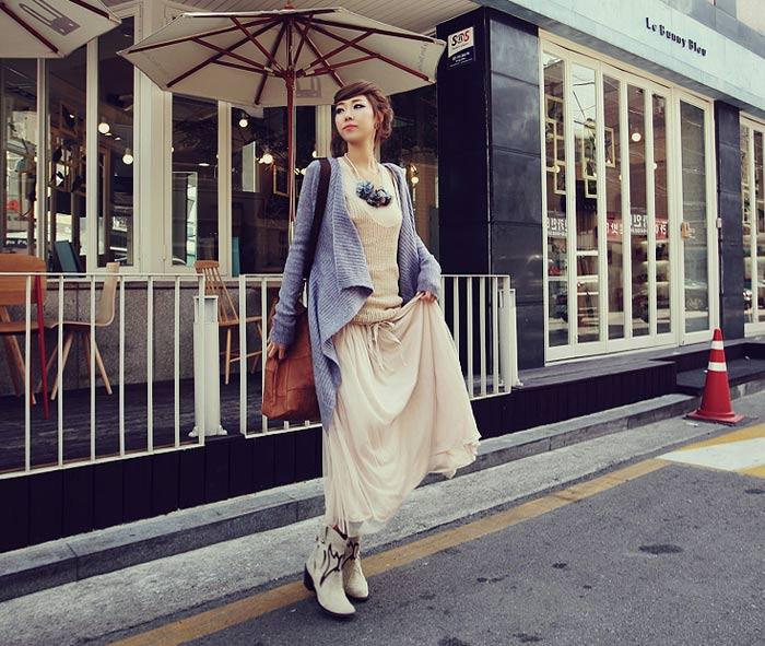 'Mix' áo cho chân váy dài duyên dáng - 17