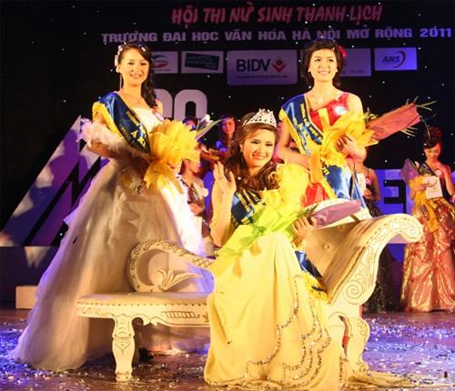 Em gái Công Vinh trở thành Hoa khôi Đại học Văn hóa mở rộng - 1