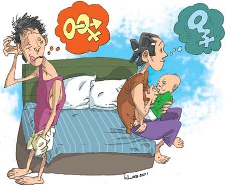 Biếm họa: Khi vợ ta... cấm vận chuyện ấy - 1
