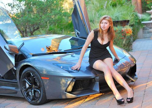 "Long legs ""they henh"" the Lamborghini Aventador, Cars - Motorcycles, Chan ben dai ho henh Aventador Lamborghini, Lamborghini Aventador, chan dai ho henh, Lamborghini LP700-4 Aventador, super cars, beautiful people and vehicles"