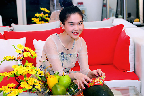 Ngày Tết của hoa hậu Ngọc Trinh - 3