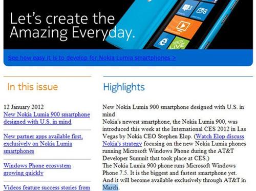 Nokia Lumia 900 phát hành ngày 19/03 - 2
