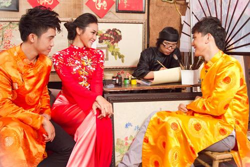 Bạn trẻ Sài Gòn mê diện áo dài ngày Tết - 5