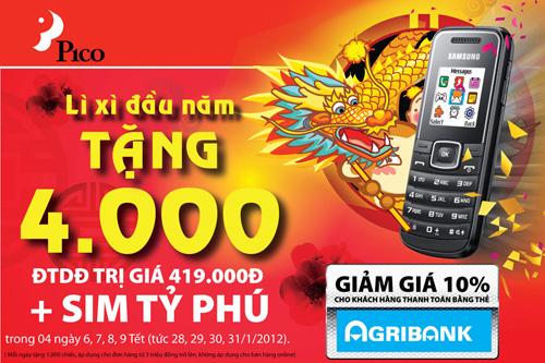 Pico lì xì đầu năm 4000 điện thoại di động - 2