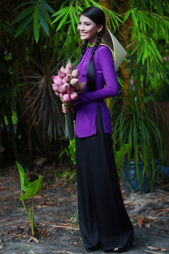 Trương Thị May hiền hòa với áo bà ba - 8