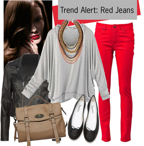 7 cách mặc đẹp với quần denim đỏ sành điệu - 12