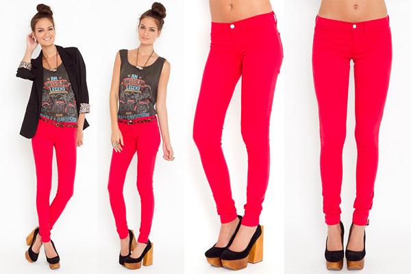 7 cách mặc đẹp với quần denim đỏ sành điệu - 2