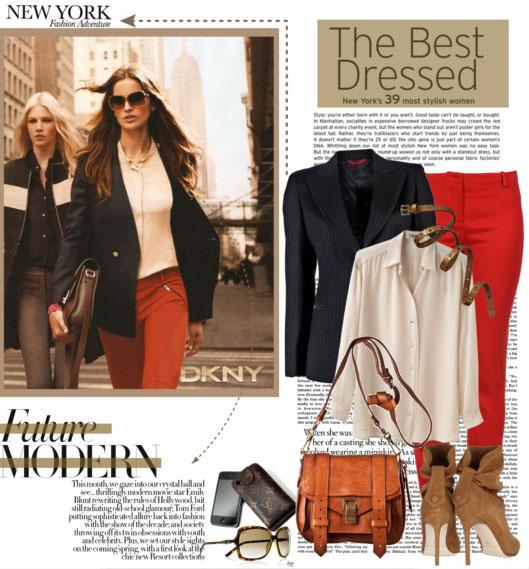 7 cách mặc đẹp với quần denim đỏ sành điệu - 3