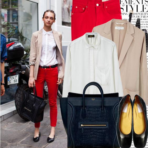 7 cách mặc đẹp với quần denim đỏ sành điệu - 11