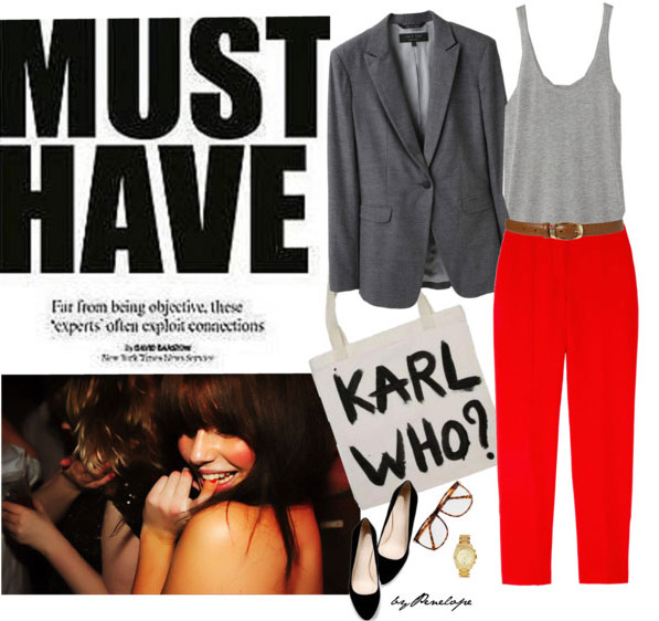 7 cách mặc đẹp với quần denim đỏ sành điệu - 5