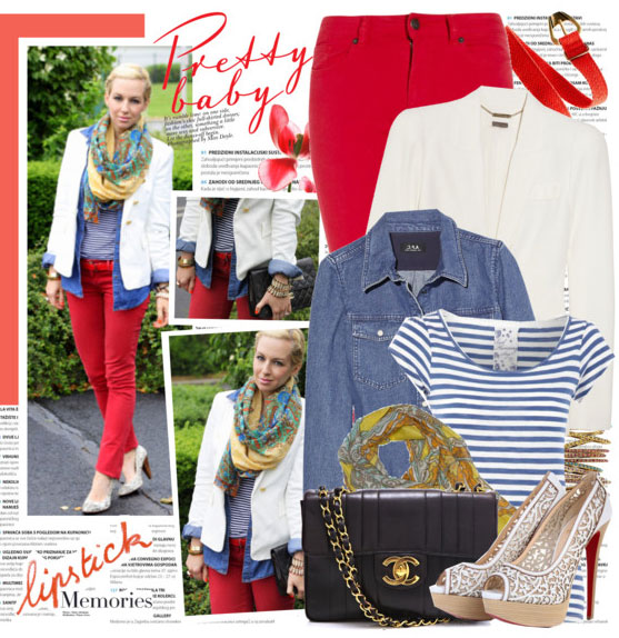 7 cách mặc đẹp với quần denim đỏ sành điệu - 19