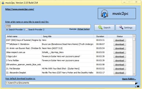 Tìm và tải hàng triệu bản nhạc MP3 về máy - 1