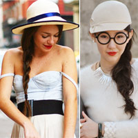 Thời trang mũ trên phố đẹp tới ngỡ ngàng