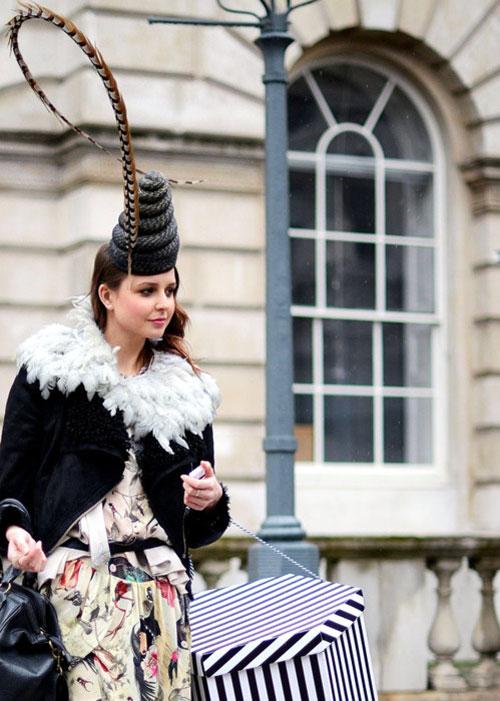 Thời trang mũ trên phố đẹp tới ngỡ ngàng - 21