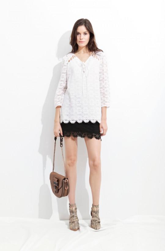 7 cách mặc váy ren trong Xuân-Hè 2012 - 2