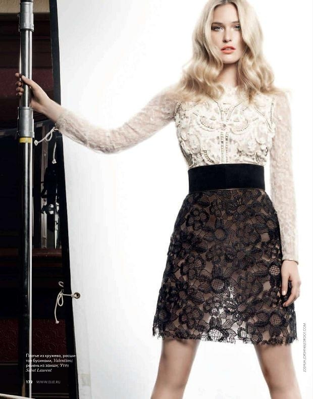 7 cách mặc váy ren trong Xuân-Hè 2012 - 9