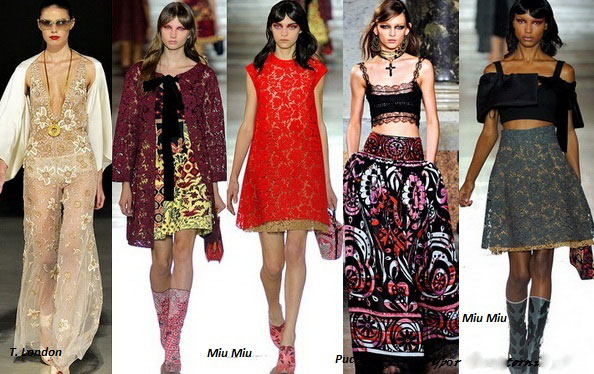 7 cách mặc váy ren trong Xuân-Hè 2012 - 18