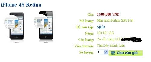 """Hkphone 4S – Retina giống 99% Iphone 4S""""loạn giá"""" - 4"""