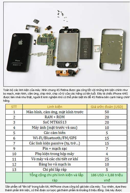 """Hkphone 4S – Retina giống 99% Iphone 4S""""loạn giá"""" - 5"""