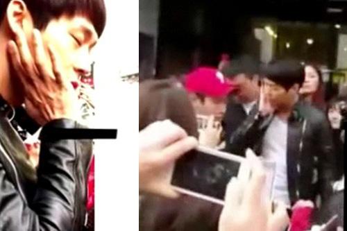 Sốc: Ca sỹ Hàn bị fan cuồng tát vô cớ - 2